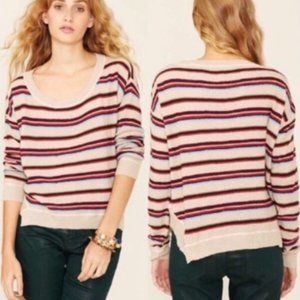 Free People Road Trip Striped Pullover Knit Top XS